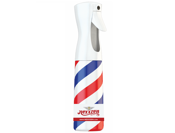 Nexxzen Flairosol Fine Mist Spray Bottle - Barber Pole White